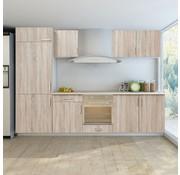 vidaXL Keukenkastenset voor inbouwkoelkast eiken-look 7-delig
