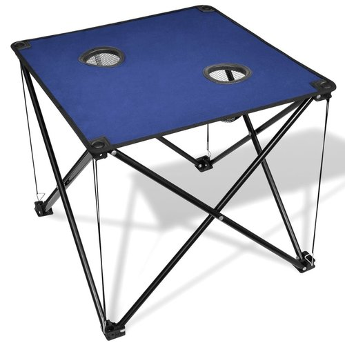 vidaXL Campingtafel inklapbaar (blauw)