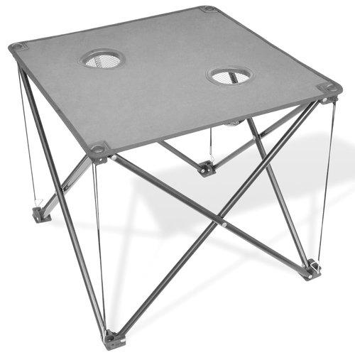 vidaXL Campingtafel inklapbaar (grijs)