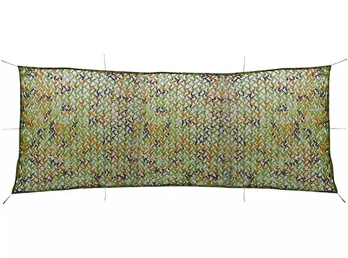 vidaXL Camouflagenet met opbergzak 1,5x4 m
