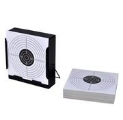 vidaXL Schietkaart vierkant met kogelvanger + 100 papieren doelen