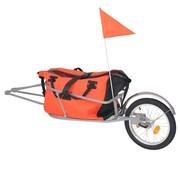 vidaXL Fietskar met tas oranje en zwart