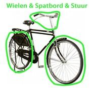 vidaXL Wielen 28 inch + Stuur + Spatbord (90058.B)