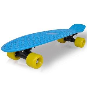 """vidaXL Retro pennyboard met blauwe bovenkant en gele wielen 6,1"""""""