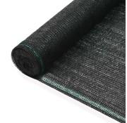 vidaXL Tennisnet 2x50 m HDPE zwart