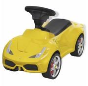 vidaXL Loopauto Ferrari 458 geel