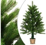 vidaXL Kunstkerstboom met mand 90 cm groen