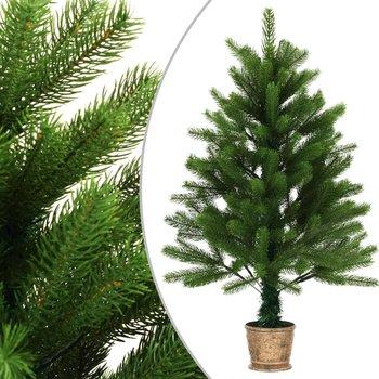 Kunstkerstboom met mand 90 cm groen
