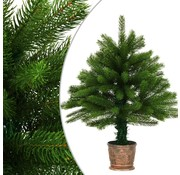 vidaXL Kunstkerstboom met mand 65 cm groen