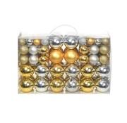 vidaXL Kerstballenset 6 cm zilver/goud 100-delig