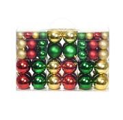 vidaXL Kerstballenset 6 cm rood/goud/groen 100-delig