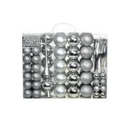 vidaXL Kerstballenset 6 cm zilver 113-delig