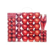 vidaXL Kerstballenset 6 cm rood 113-delig