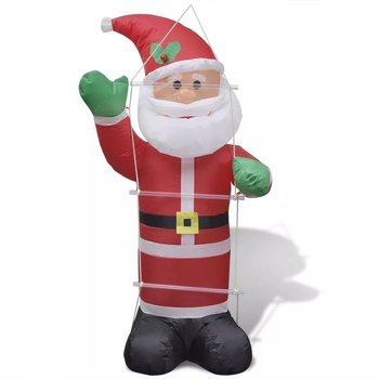 Opblaasbare kerstman met ladder 120 cm