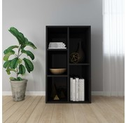 vidaXL Boekenkast/Dressoir 45x25x80 cm spaanplaat hoogglans zwart