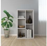 vidaXL Boekenkast/Dressoir 45x25x80 cm spaanplaat hoogglans wit