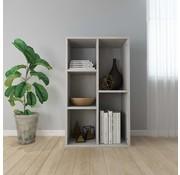 vidaXL Boekenkast/Dressoir 45x25x80 cm spaanplaat betongrijs