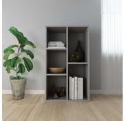 vidaXL Boekenkast/Dressoir 45x25x80 cm spaanplaat grijs