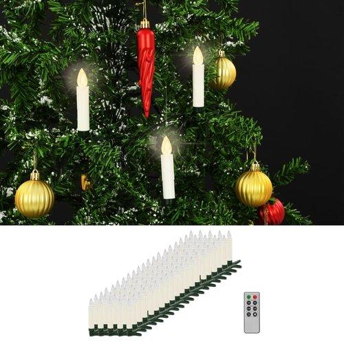 vidaXL LED-kaarsen draadloos met afstandsbediening 100 st warm wit