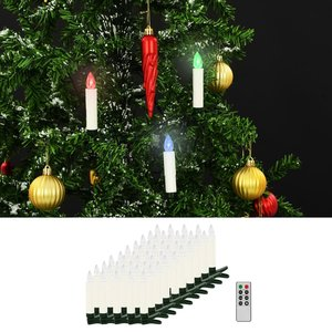 vidaXL LED-kaarsen kerst draadloos met afstandsbediening 50 st RGB