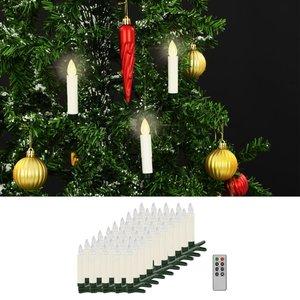 vidaXL LED-kaarsen draadloos met afstandsbediening 50 st warm wit
