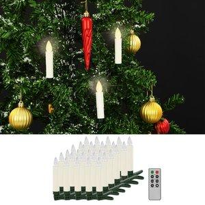 vidaXL LED-kaarsen draadloos met afstandsbediening 30 st warm wit