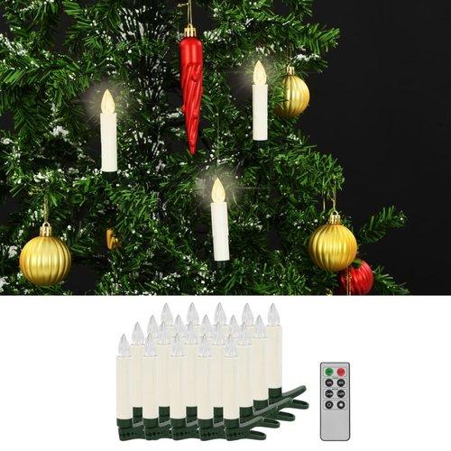 vidaXL LED-kaarsen draadloos met afstandsbediening 20 st warm wit