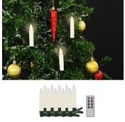 vidaXL LED-kaarsen draadloos met afstandsbediening 10 st warm wit