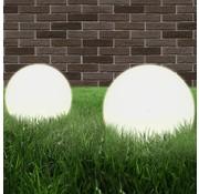 vidaXL LED-bollampen 2 st rond 20 cm PMMA