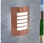 vidaXL Wandlamp buiten koperkleuring roestvrij staal