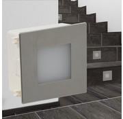 vidaXL 2 st LED-traplamp verzonken 85x48x85 mm