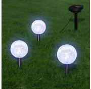 vidaXL Solarbollampen 3 st LED met grondankers en zonnepaneel