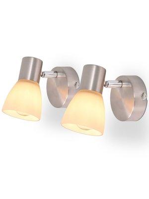 vidaXL Wandlampen E14 zilver 2 st