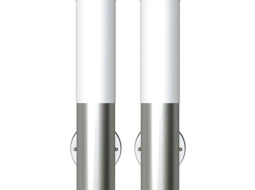 vidaXL Buitenlamp RVS Savona (2 stuks)