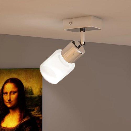 vidaXL Plafondlamp glazen cilinder kap incl. LED lamp