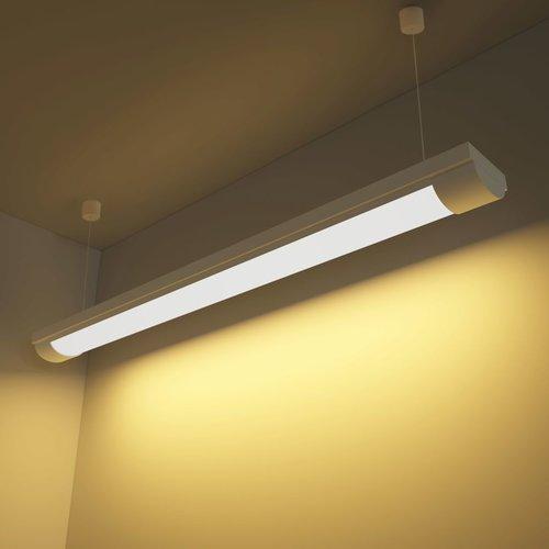 vidaXL LED verlichting warm wit licht 28 W incl. montageset