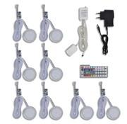 vidaXL RGB LED keuken verlichting kit: 8 stuks + afstandsbediening