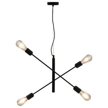 Plafondlamp met filament peren 2 W E27 zwart