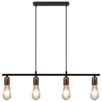 Plafondlamp E27 80 cm zwart en koper