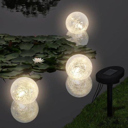 vidaXL Vijververlichting drijvende bollen LED