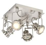 vidaXL Spotlight viervoudig GU10 zilverkleurig