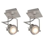 vidaXL Spotlights 2 st GU10 zilverkleurig