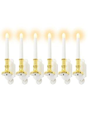 vidaXL Solarkaarsen LED-lichten warm wit 6 st