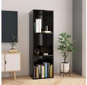 vidaXL Boekenkast/Tv-meubel 36x30x114 cm spaanplaat hoogglans zwart