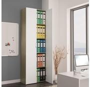 vidaXL Kantoorkast 60x32x190 cm spaanplaat wit en sonoma eikenkleur