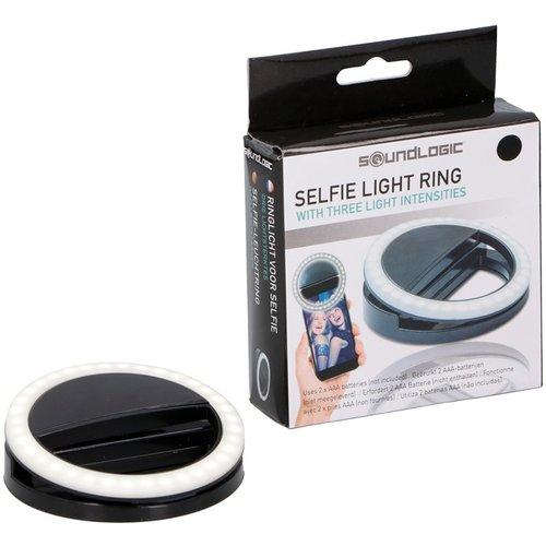 Soundlogic Selfie Ring Light Clip met 3 standen