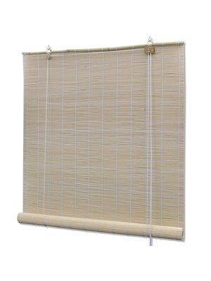 vidaXL Rolgordijn Bamboe  120 x 160 cm (Naturel)