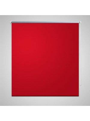 vidaXL Rolgordijn verduisterend 60 x 120 cm rood