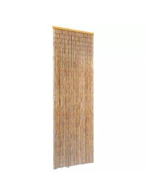 vidaXL Vliegengordijn 56x185 cm bamboe