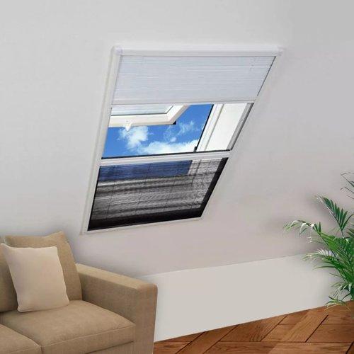 vidaXL Raamhor plissé met verduistering 60x80 cm aluminium